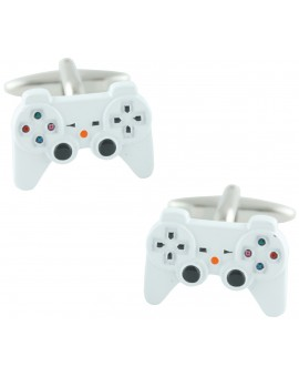 White PlayStation Controller Cufflinks