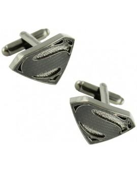 Black Superman Classic Shield Cufflinks
