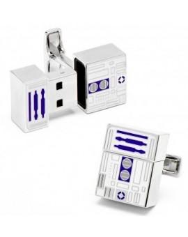 R2D2 4GB USB Flash Drive Cufflinks