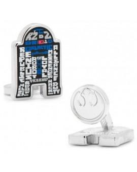 R2D2 Typography Star Wars Cufflinks