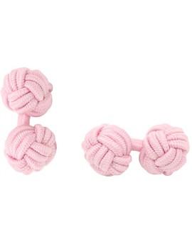 Light Pink Silk Knot Cufflinks