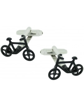 Black Bike Cufflinks