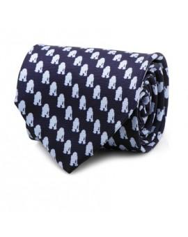 R2D2 Tonal Blue Tie