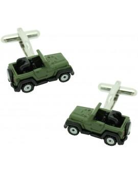 Green Jeep Willys Cufflinks
