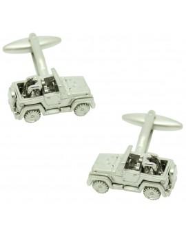 Silver Jeep Cufflinks