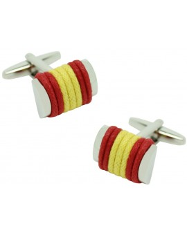 Spain Flag Rope Cufflinks