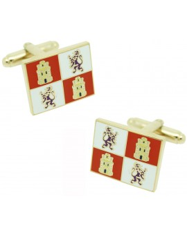 Castile and Leon Flag Cufflinks