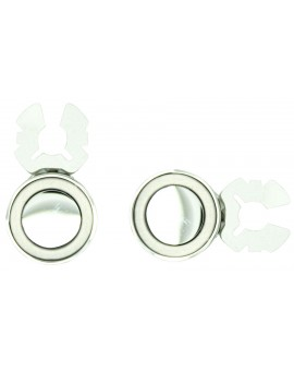 Silver Circle Button Covers