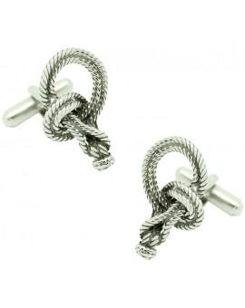 Bowline Nautical Knot Cufflinks