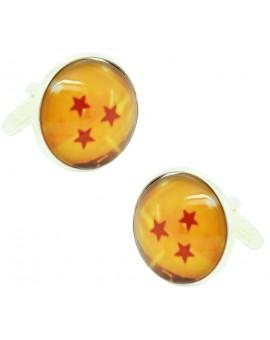 Gemelos para camisa Dragon Ball 3 Estrellas