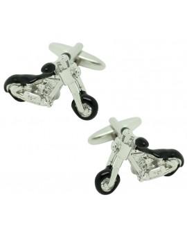 3D Harley Chopper Motorcycle Cufflinks
