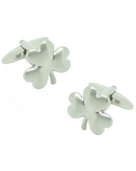Silver Clover Cufflinks