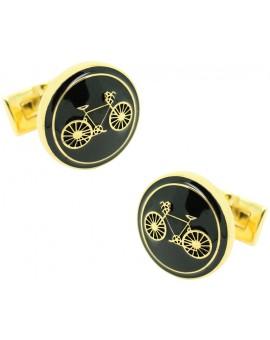 Gold Bike Skultuna Cufflinks