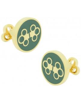 The Double Key Skultuna Cufflinks - Green