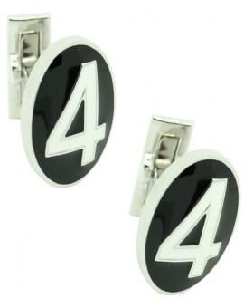 Number 4 Series Skultuna Cufflinks - White