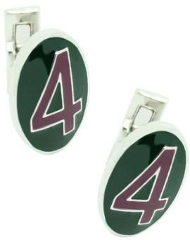 Number 4 Series Skultuna Cufflinks - Purple and green