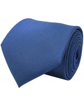 Corbata azul marino con relieve de seda