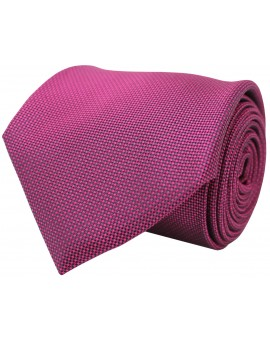 Corbata en color fucsia con relieve de seda