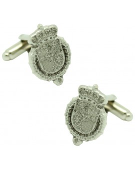 Silver Royal House Felipe VI Cufflinks