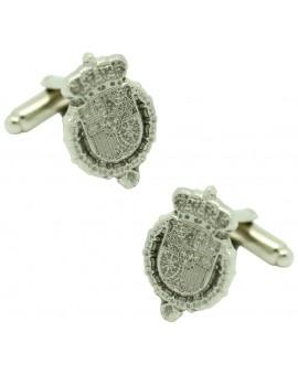 Silver Royal House Felipe VI Cufflinks