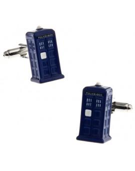 Gemelos para camisa Tardis Cabina de Policía Doctor Who