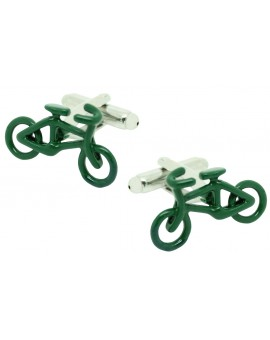 Green Road Bike Cufflinks