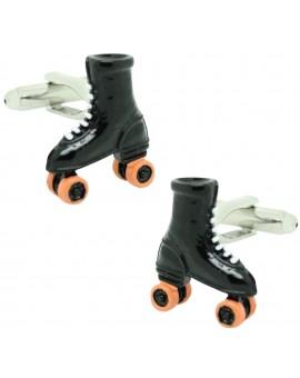 Black Roller Skates Cufflinks