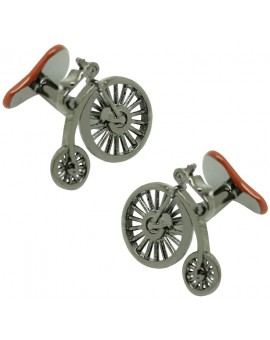 Victorian Bike and Bike Saddle Cufflinks