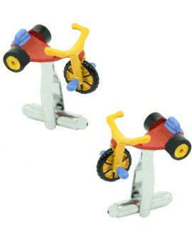 Multicolour Tricycle cufflinks