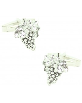 PREMIUM Sterling Silver Grape Cluster Cufflinks