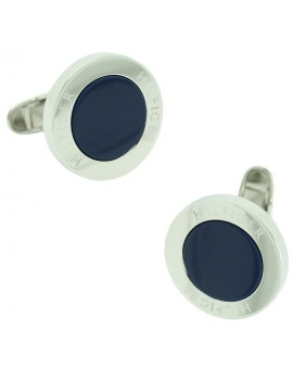 Navy Circle Tommy Hilfiger Cufflinks