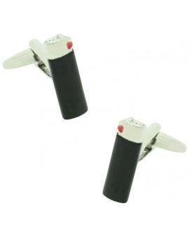 Black Clipper Lighter Cufflinks