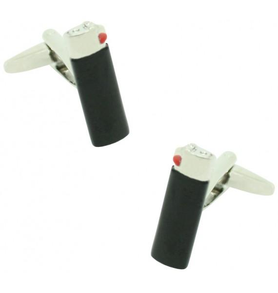 Black Clipper Lighter Cufflinks