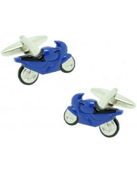Gemelos Moto GP Azul