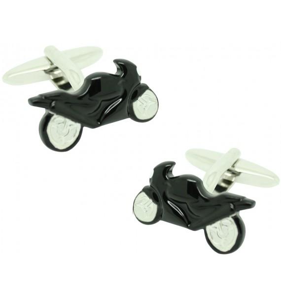Black GP Motorbike Cufflinks
