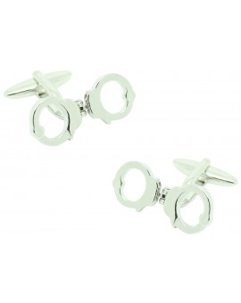 Movable Handcuffs Cufflinks