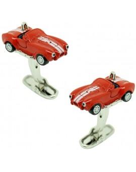 Gemelos para camisa coche Shelby Cobra rojo