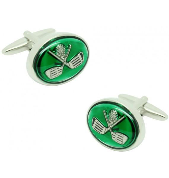Gemelos para camisa Palos de Golf Cruzados en color Verde