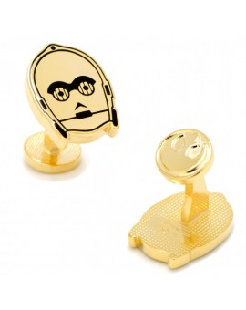 Gold Plated C3PO Cufflinks
