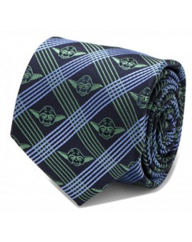 Yoda Navy Plaid Tie