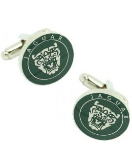 Gemelos Logo Parrilla Jaguar Verde