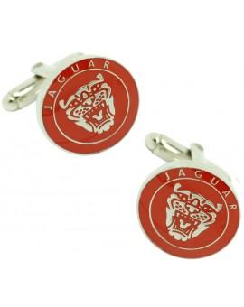 Gemelos Logo Parrilla Jaguar Rojo