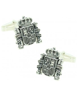 Sterling Silver Spain Shield Cufflinks