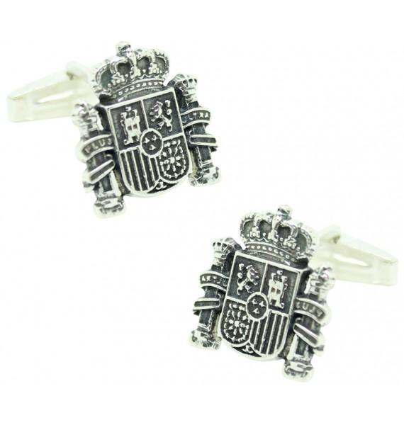 Sterling Silver Spain Shield Cufflinks