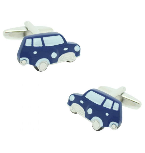 Navy Mini Cooper Cufflinks