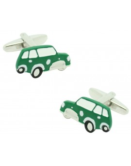 Green Mini Cooper Cufflinks