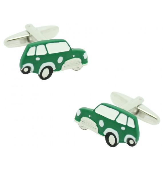 Green Mini Cooper Cufflinks
