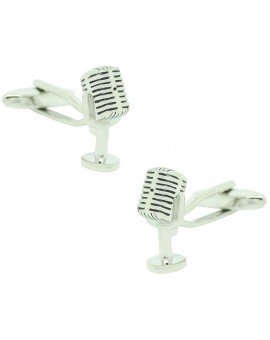 Radio Announcer Microphone Cufflinks
