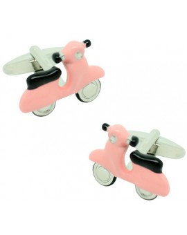 Pink Scooter Cufflinks