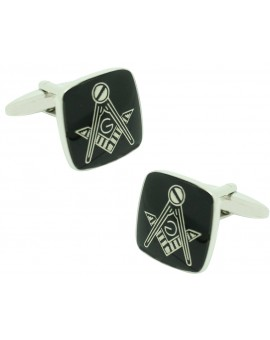 Black Square Masonry Symbol Cufflinks